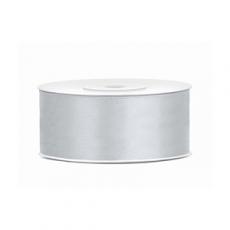 Saténová stuha strieborná 25 mm