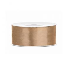 Saténová stuha zlatá 25 mm