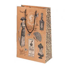 Darčeková taška hnedá s motívom