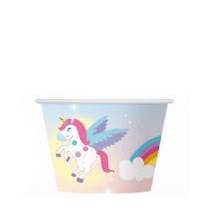 Papierový kelímok na zmrzlinu Jednorožec