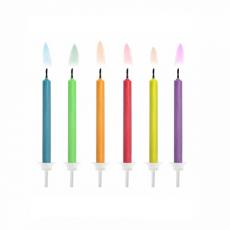 Tortové sviečky s farebným plameňom