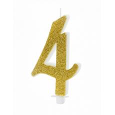 Sviečka č. 4 zlatá