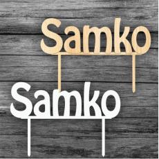 Zápich na tortu Samko