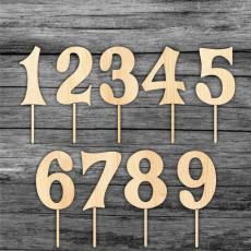 Tortový zápich Číslo drevo