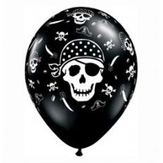 Balóny Piráti / Pirate Skull 6ks Q 11´´ RND