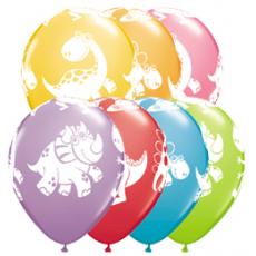 Balóny Dino / Cute & Cuddly Dino 6ks Q 11´´ RND