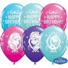 Balóny Frozen BDay Q 11´´ RND