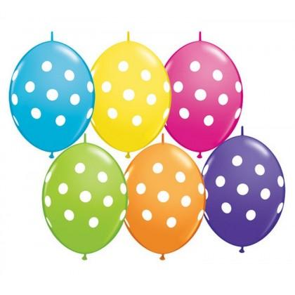 Q Party Banner Qlink Dots 10 pcs 12´´