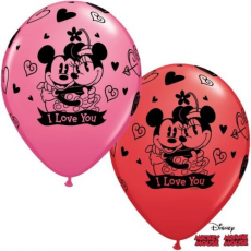 Balóny Mickey & Minnie I Love You Q 11´´