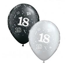 Balón číslo 18 RND Black&Silver 11´´