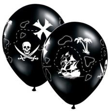 Balóny Piráti mapa / Pirate Treasure Map Q 11´´ RND