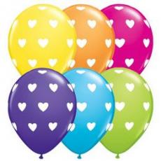Balóny so srdiečkami Q 11´´