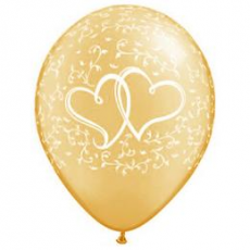 Q Entwined Hearts Gold 11´´