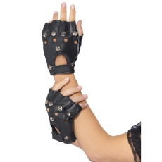 Punkové rukavice čierne