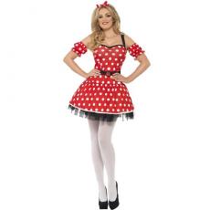 Kostým Myška červené šaty