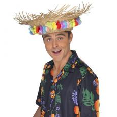 Plážový slamený klobúk s kvetmi