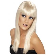 Parochňa dlhá blond s ofinou