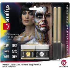 Farby na tvár metalické