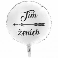 Balón Tím Ženích biely