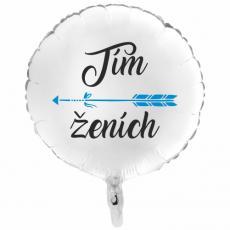 Balón Tím Ženích 1 biely