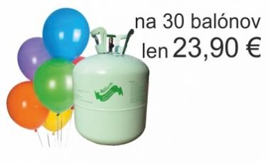 Hélium - jednorázové s balónmi