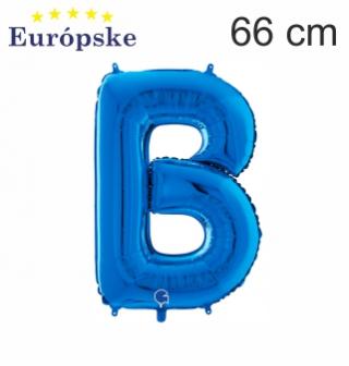 Modré písmená veľké