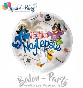 Balóny fóliové so slovenským textom stredné