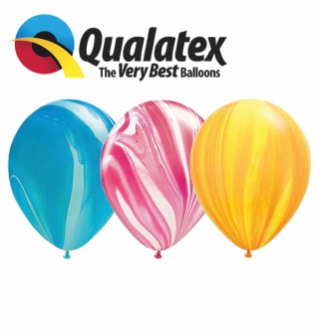 Latexové balóny Qualatex Mramor