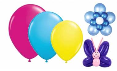 Balóny latexové - farby a veľkosti