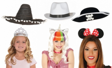 Parochne, klobúky, čelenky, korunky
