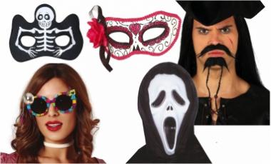 Masky, škrabošky, fúzy, nosy, uši ...