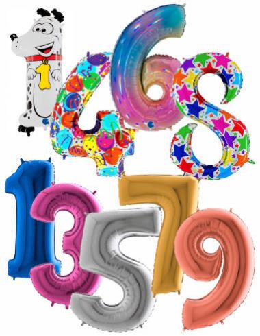 Balóny čísla maxi 100 cm