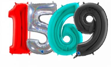 Balóny čísla veľké 66 cm