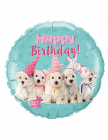 Balóny fóliové Happy birthday 45cm