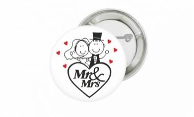 Svadobné magnetky a odznaky