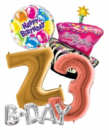 Narodeninové balóny, Balóny čísla a Balóny písmená